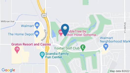 DoubleTree by Hilton Sonoma - Wine Country Map