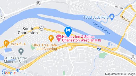 Microtel Inn & Suites by Wyndham Charleston WV Map