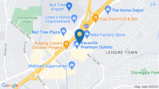 Courtyard by Marriott Vacaville Map