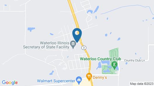 Super 8 by Wyndham Waterloo Map