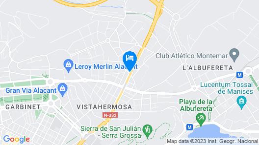 Hotel Daniya Alicante Map