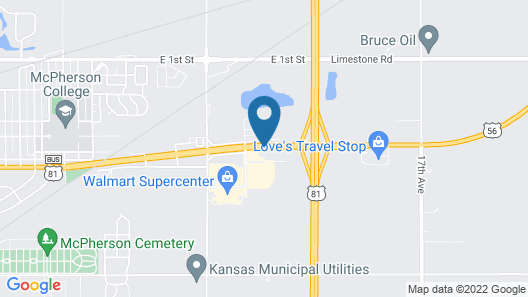 Holiday Inn Express & Suites McPherson Map