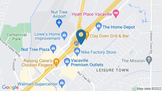 Fairfield Inn By Marriott Vacaville Map