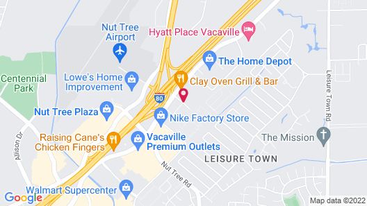 Holiday Inn Express Hotel & Suites Vacaville, an IHG Hotel Map