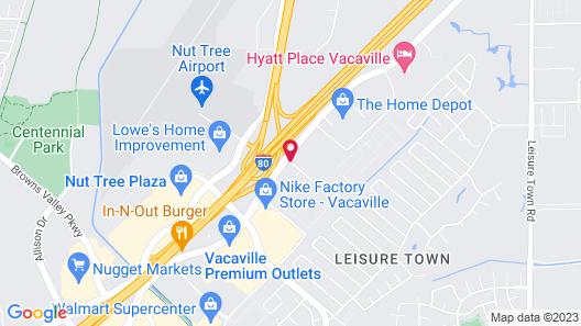Comfort Suites Vacaville Map