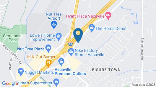 Motel 6 Vacaville, CA Map
