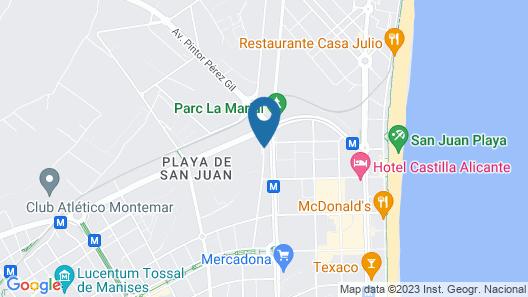 Hotel Alicante Golf Map