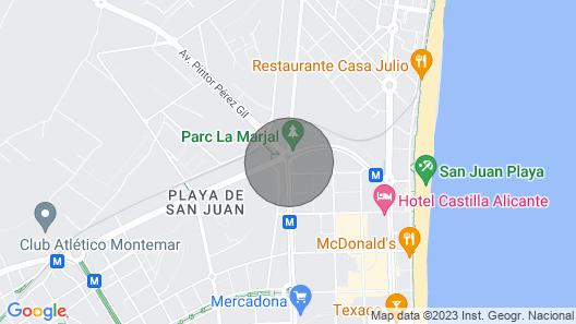 New Apartment in San Juan Playa, Alicante Wi-fi, air Conditioning, Smart tv Map