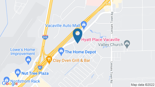 Hyatt Place Vacaville Map