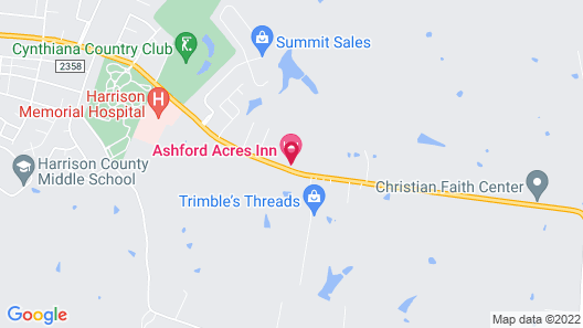 Ashford Acres Inn Map