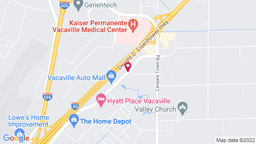 Extended Stay America Sacramento - Vacaville Map