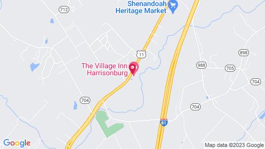 The Village Inn Harrisonburg Map