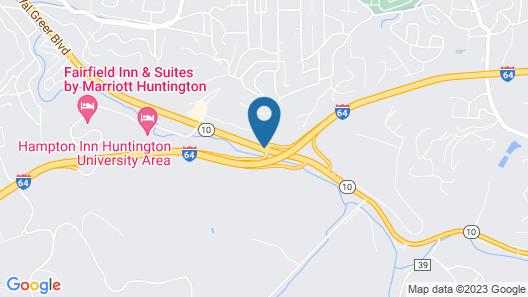 Ramada Limited Huntington Map