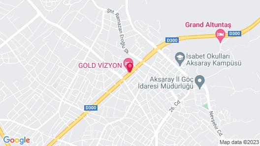 Gold Vizyon Hotel Map