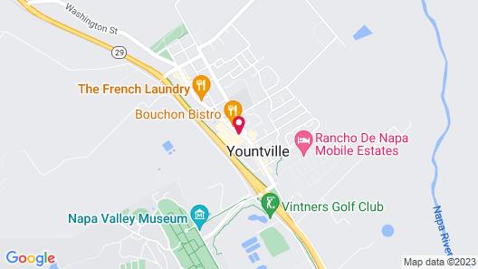 Napa Valley Railway Inn Map