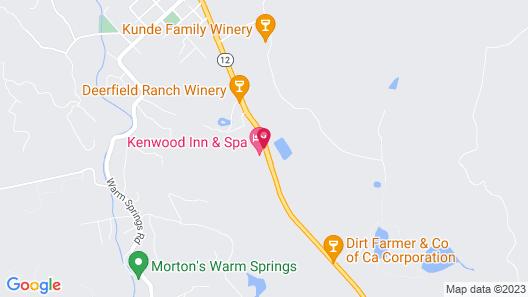Kenwood Inn and Spa Map