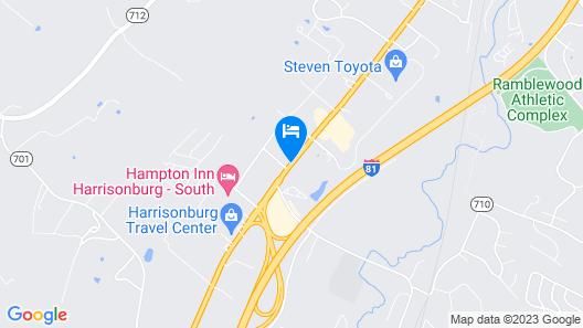 Motel 6 Harrisonburg, VA - South Map