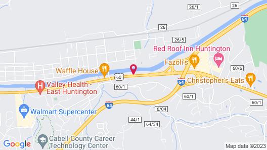 Motel 6 Huntington, WV Map
