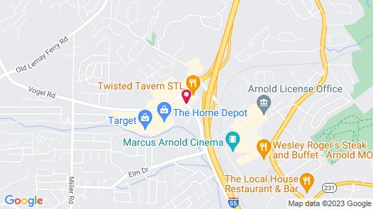 Quality Inn & Suites Arnold - St Louis Map