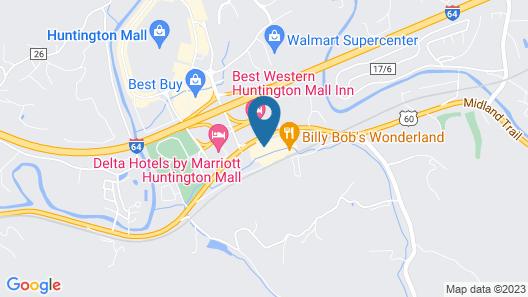 Hampton Inn Huntington/Barboursville Map