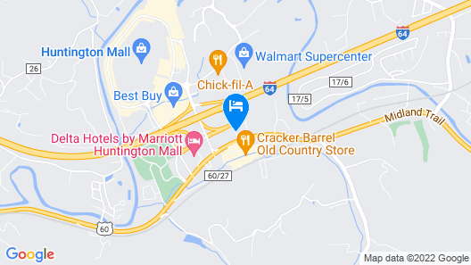BEST WESTERN Huntington Mall Inn Map