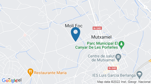 Mutxamel: Country holiday home - MUCHAMIEL Map