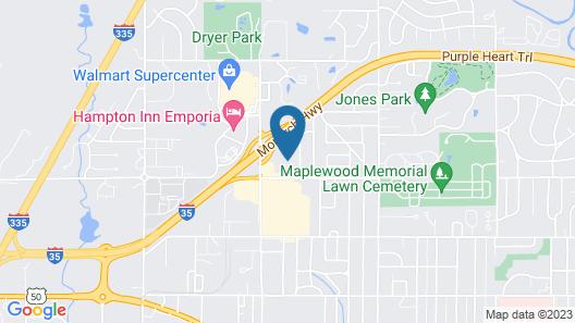 Emporia Inn Map