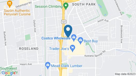 Americas Best Value Inn Santa Rosa, CA Map