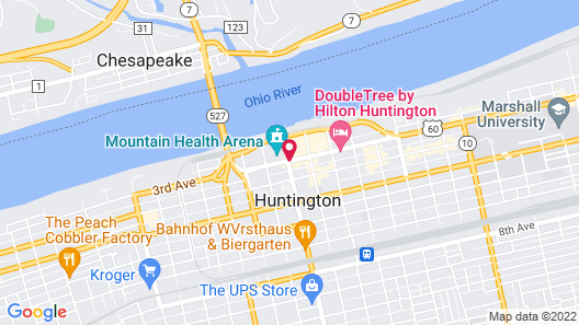 Delta Hotels by Marriott Huntington Downtown Map