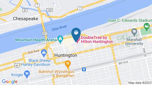 DoubleTree by Hilton Huntington Map