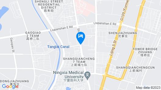 GreenTree Alliance Ningyida Hospital Yinchuan Bus Station Map