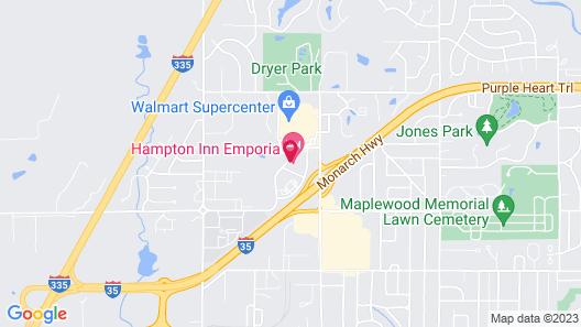 Hampton Inn Emporia Map
