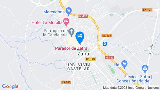 Parador de Zafra Map