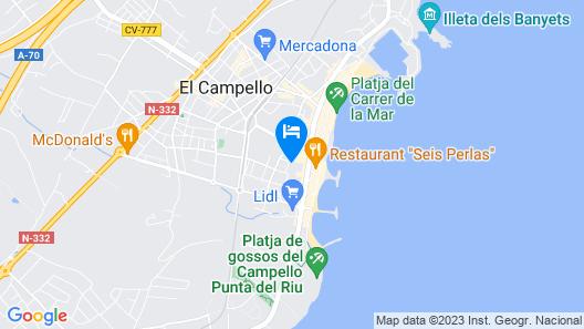 Hotel La Familia Gallo Rojo Map