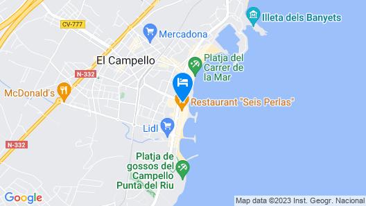 Hotel La Familia Map