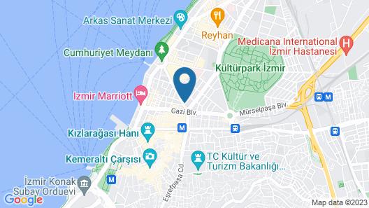 Kordon Hotel Cankaya Map