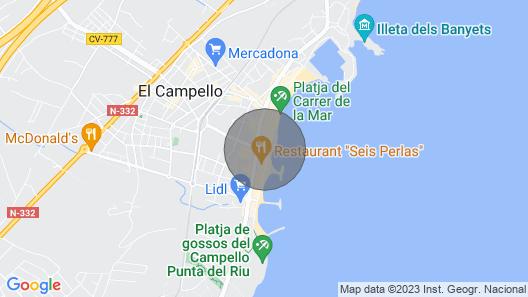 Sant Pere Apartments Map