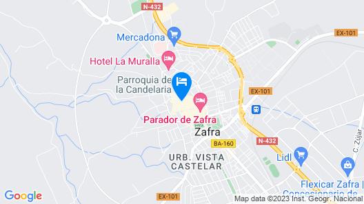 Los Balcones de Zafra Map