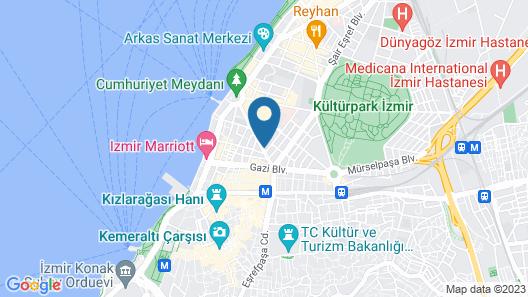 Hilton Izmir Map