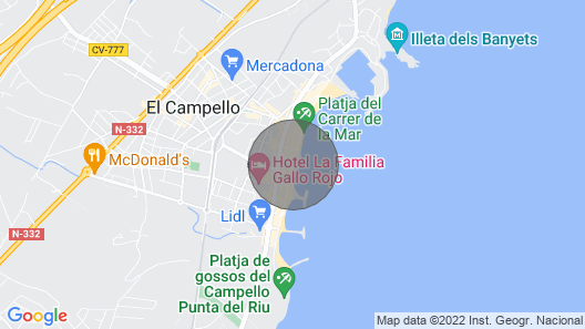 Beach Front - Stunning Views. Campello Map