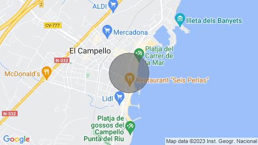 El Campello Town Apartment, San Bartolome Map
