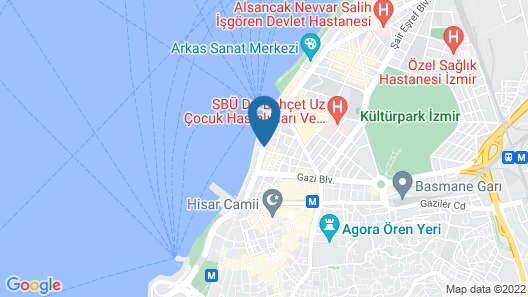 Kilim Otel Izmir Map