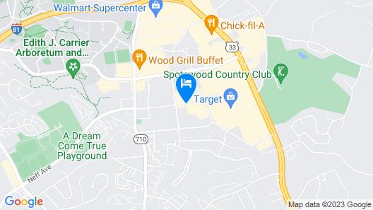 Comfort Inn & Suites Harrisonburg Map