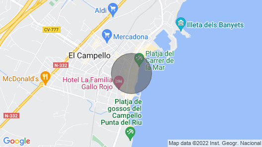 Family Beach Apartment / Appartement de Plage Familial / Familienstrand Wohnung Map