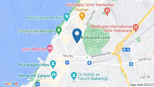 Doubletree By Hilton Hotel Izmir - Alsancak Map