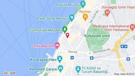 Swissotel Buyuk Efes Izmir Map