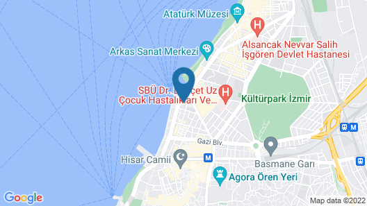 Bulvar Hotel Map