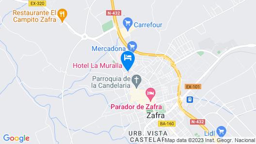 Hotel La Muralla Map
