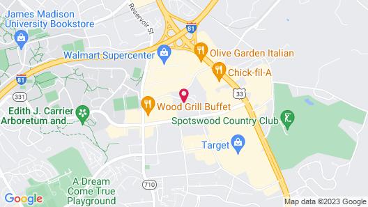 Quality Inn Harrisonburg I-81 Map