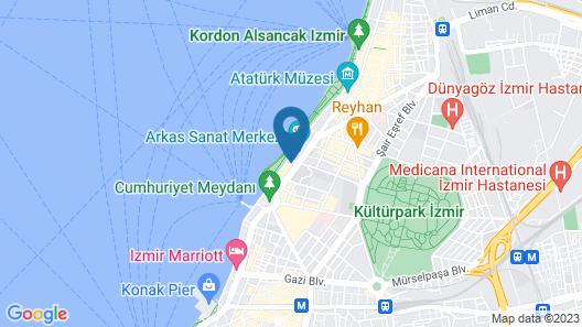 Izmir Palas Otel Map